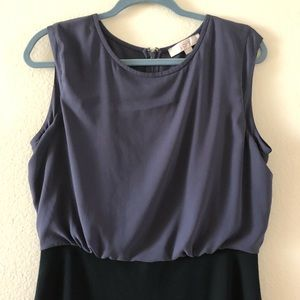 LOFT Dresses - LOFT Black and Gray Dress